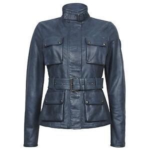 BELSTAFF-Women-039-s-Leather-Jacket-RRP-1-250-TRIUMPH-JACKET-BLACK-XS