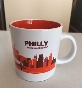 Dunkin Donuts Philly Runs On Dunkin Philadelphia Coffee Mug Cup 2013 Nice Clean