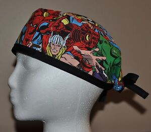 10364b896d9 Men s Marvel Superhero Avengers Scrub Cap Hat - One size fits most ...
