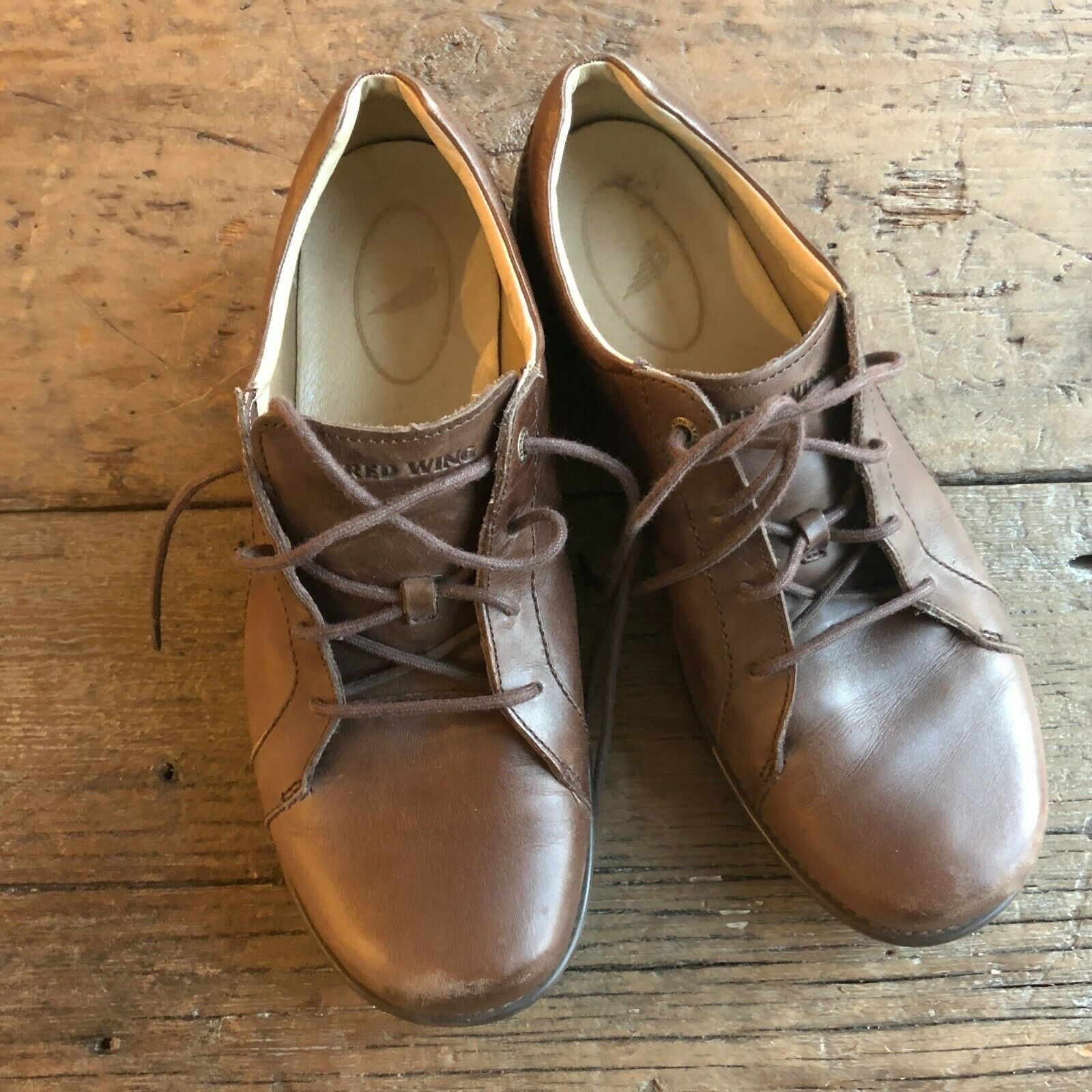 Red Wing Womens Brown Oxfords Flats Size 9.5W Lace Up shoes Loafers