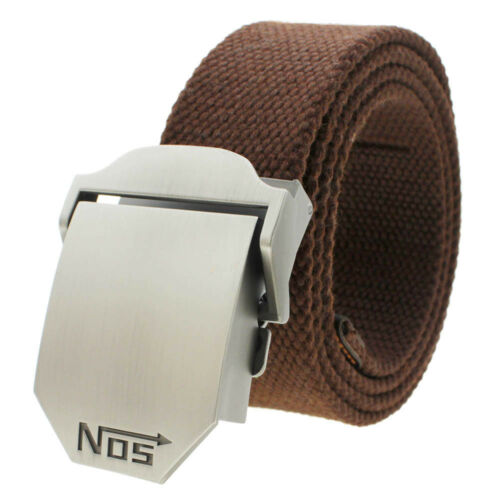 Men Waistband Canvas Webbing Easy Automatic Zinc Alloy Buckle Sport Waist Belt