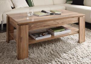 Nussbaum Möbel couchtisch beistelltisch nussbaum satin wohnzimmer holz tisch möbel