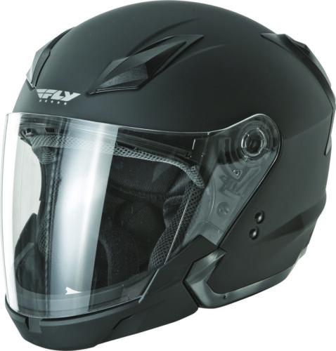 Fly Racing Tourist Solid Helmet Matte Black