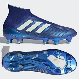 Ardilla corriente esqueleto  adidas Predator 18+ SG Mens Football Boots Blue 360 Laceless SIZE 8.5 9 10  10.5   eBay