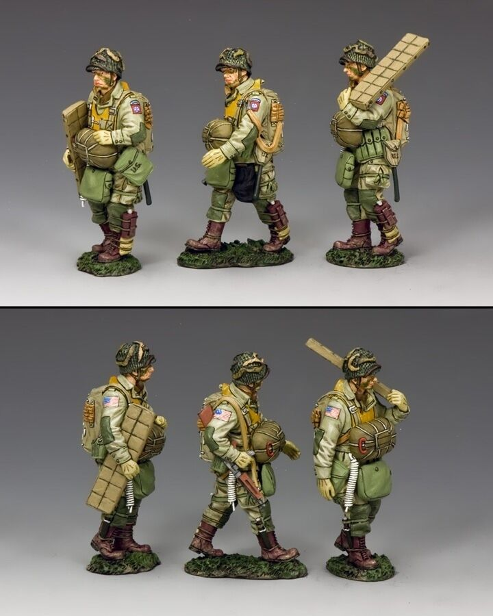 KING AND COUNTRY WW2 U.S. Walking Paras Set (82nd) D Day DD265-1