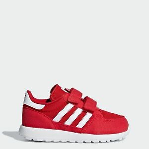 hot sale online 5b3a3 ba45d Image is loading FOREST-GROVE-infant-toddler-shoes-RED-Adidas-D96684