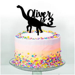 Kids-Birthday-Cake-Topper-DINOSAUR-PERSONALISED-Cake-Decoration-Boys-Girls-Party