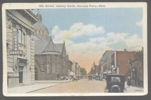 Postcard Martins Ferry Ohio Oh 4th Fourth Street Business