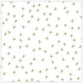 Lecien Snowflake  LEC35055-10 Tan X Cotton Fabric FREE US SHIP