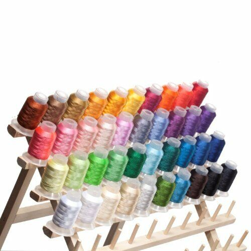 40 Spools Brother Colors Embroidery Machine Thread