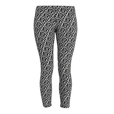 Gutherzig Womens Nike Club Aop All Over Print Gym Sports Crop Cropped Leggings Light Grey