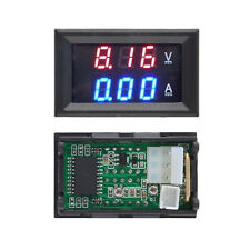 DC 100V Voltmeter Ammeter Blue+Red LED 10A Dual Digital Volt Amp Meter Gauge Hot