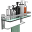 GeekDigg-Bathroom-Shelf-Tempered-Glass-Floating-Shelves-Wall-Mounted-Storage thumbnail 1