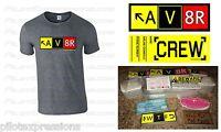 Aviation Pilot Aviator Av8r Taxiway Sign Shirt And Sticker Combo Pilot Gifts