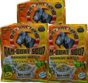 JAMAICAN REAL RAM GOAT MANISH WATER SOUP MIX - 3 PKS  60G EA - FROM JAMAICA