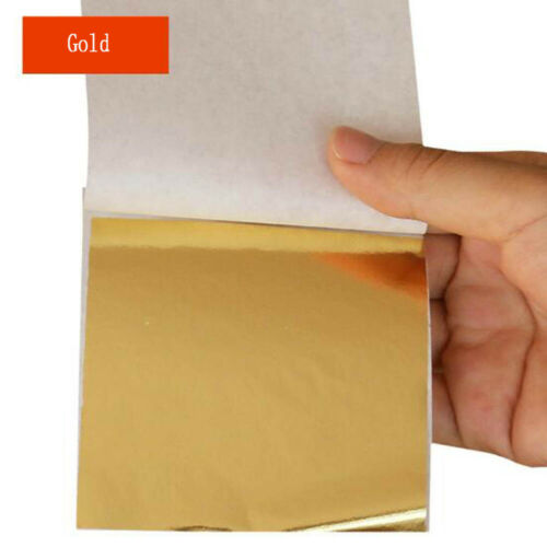 50//100PCS Gold//Silver//Copper Foil Leaf Sided Paper Decor Gilding DIY Crafts