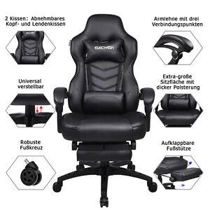 Gaming Stuhl Racing Stuhl Bürostuhl Schreibtischstuhl Drehstuhl Chefsessel 150kg
