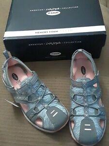 ba40aa5fe620 Dr. Scholl s Archie s Grey Fisherman Women s Sandals 7 Memory Foam ...