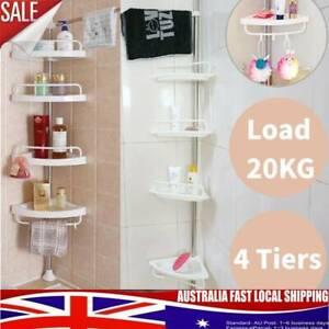 Telescopic-Spring-Tension-Pole-4-Shelf-Corner-Bath-Shower-Rack-Caddy-Organiser