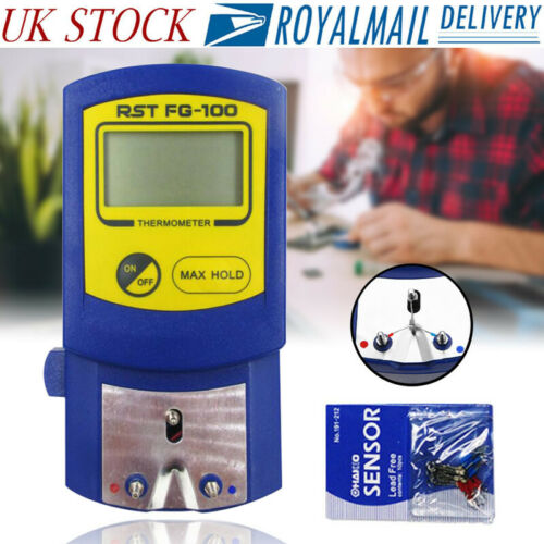 FG-100 Digital LCD Display Soldering Iron Tips Thermometer Temperature Tester UK