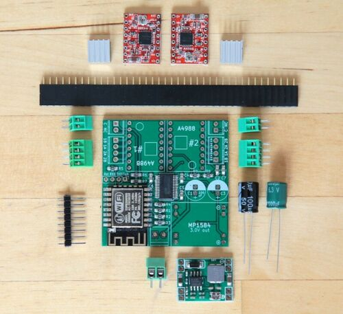 WiFi-controlled two stepper motors with ESP8266 kit incl ESP-12F 2x A4988
