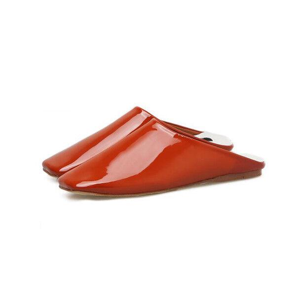 Zapatillas Elegantes Zuecos Beis 2 Brillante Suela Elegantes Piel Sintético 9851