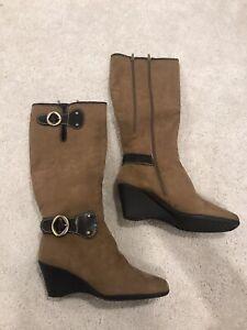 Aerosoles 8 Womens Boots Wonderling Tan
