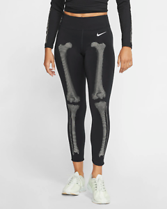 Nike-Women-039-s-Skeleton-Tights-XS-Black-Gym-Training-Casual-Running-New