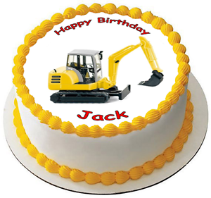 Image Is Loading DIGGER TRACTOR 7 5 PREMIUM Edible ICING Cake