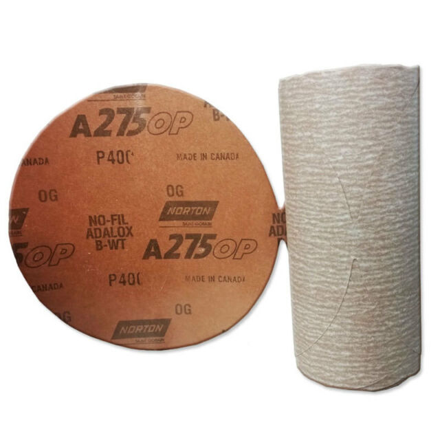 1-Pk Norton PSA No-Fil Paper Disc Roll A275 5 Inch x NH P400 B-Weight 100 per Roll //// 66261131454