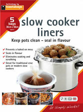 Slow COOKER & CROCK Pot FODERE 5 PK-NUOVO