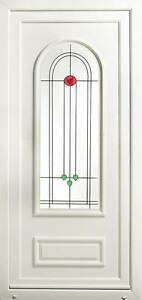 Athens UPVC Front Door with Stained Resin Glass