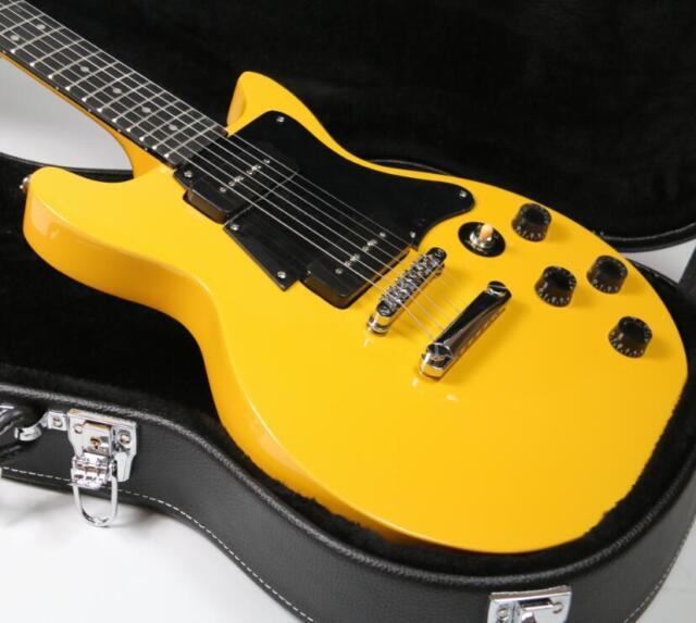 2018 6 Strings Top Quality Studio Electric Guitar Yellow Color 2pcs P90 Pickups