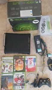 XBOX-360-Elite-Console-120GB-Bundle-5-GIOCHI-1-Controller-con-riquadro-in-buonissima-condizione