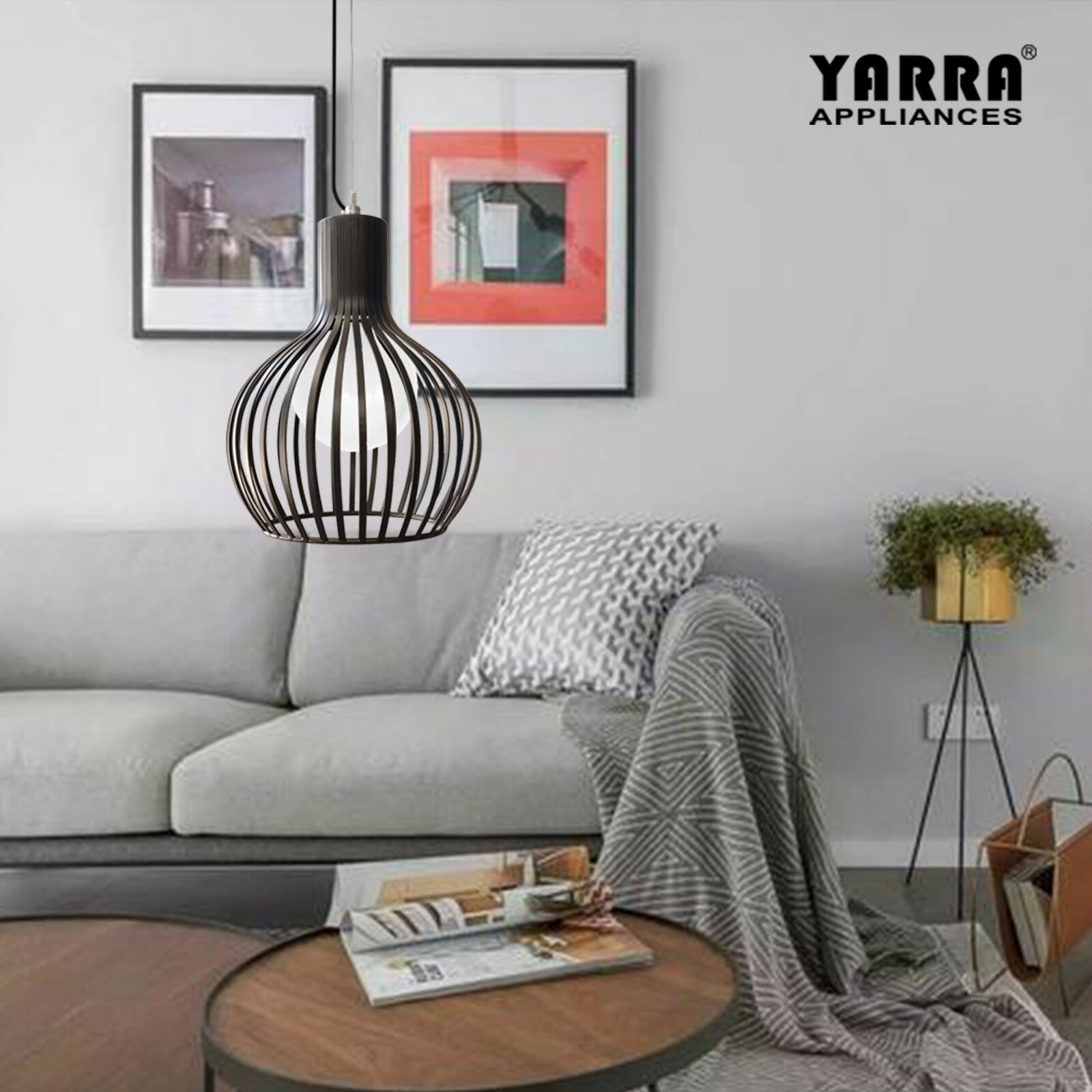 Image of: Sphere Style Black Wires Cage Light Small Large Pendant Lighting Ceiling Light Ebay