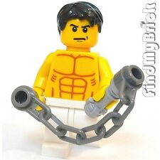 M007A Lego Big Boss Custom Bruce Lee Minifigure with Nunchake Nunchaku NEW