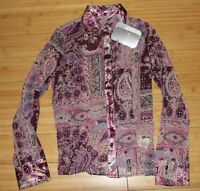 No Boundaries Juniors Holiday Multi Chiffon 2 Piece Long Sleeve Top Size 7/9