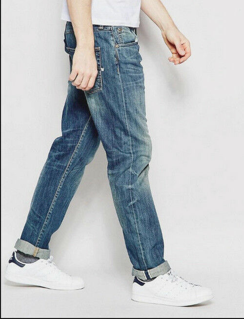 JEANS EDWIN HOMME ED 80 SLIM  (white listed-mid stifed used)   W34 L32 VAL