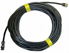 Radio Scanner Antenna Cable Low Loss RG8X FT 49ft 15M Fitted PL259 and BNC Plug