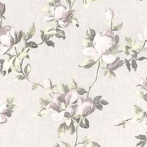 Emilia-Rose-Floral-Papier-Peint-Creme-Or-Rose-Rasch-502114-Fleurs