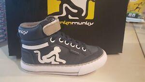 Scarpe-sportive-bambino-DRUNKNMUNKY-Boston-Planet-in-pelle-blu-e-grigio-K01
