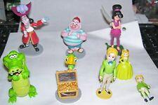 8 Disney plastic / PVC figures Peter Pan characters HOOK SMEE CROC Fairy kids