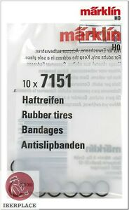 Marklin-7151-H0-escala-1-87-gomas-locomotora-Set-10x-Rubber-tires-Bandages-5-8mm
