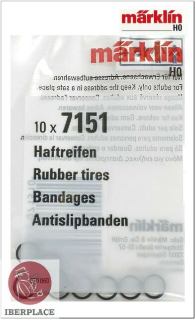 Märklin 7151 H0 escala 1:87 gomas locomotora Set 10x Rubber tires Bandages 5,8mm