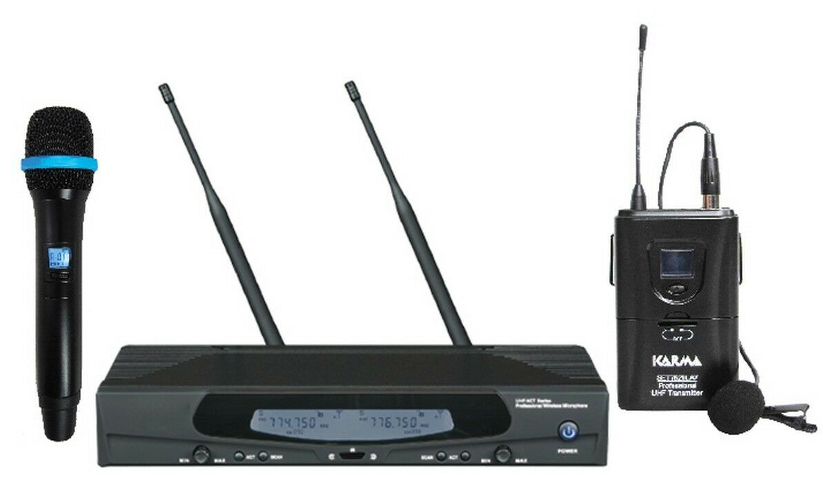 SET 7620PL doppio radiomicrofono uhf