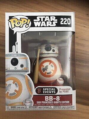 BB-8 Baseball #220 Star Wars SAN FRANCISCO GIANTS Funko Pop Vinyl New in Box