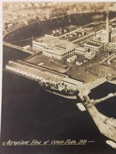 Postcard-Ocean-Falls-B-C-Canada-Airplane-View-RPPC-Photo-Vintage-P51