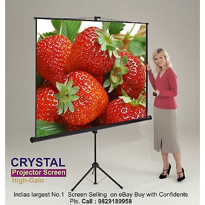 7x5,Sq. Ft.HIGH GAIN  New CRYSTAL BRAND  IMPORTED TRIPOD  PROJECTOR SCREEN