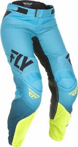 Fly Racing MX Motocross Women's Lite Pants (Black/Hi-Vis) Choose Size