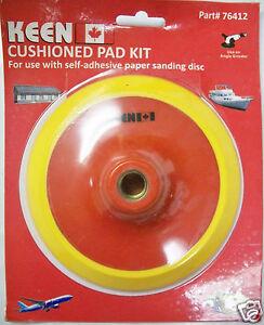 6-034-x-5-8-034-Cushioned-Pad-Kit-PSA-Adhesive-Keen-Abrasives-76412-Lot-of-1